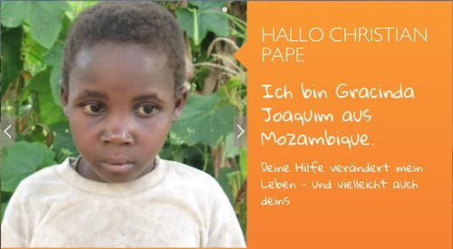Worldvision pape Patenschaft